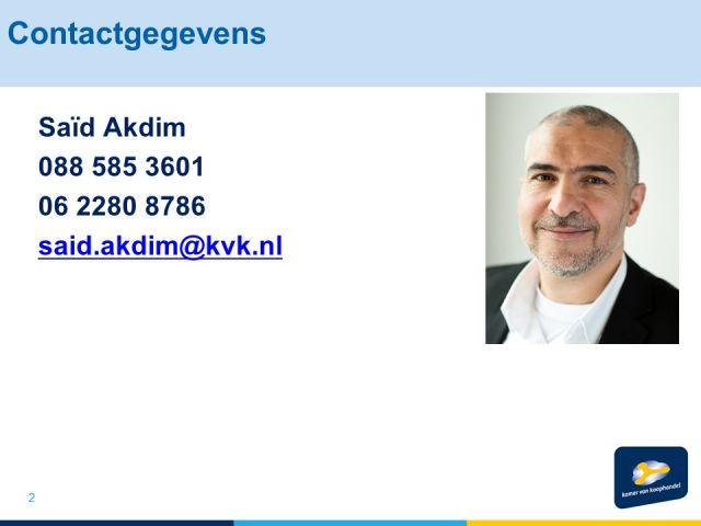 Van VAR naar DBA door SaÏd Akdim van de Kamer van Koophandel Belastingdienst Ondernemers